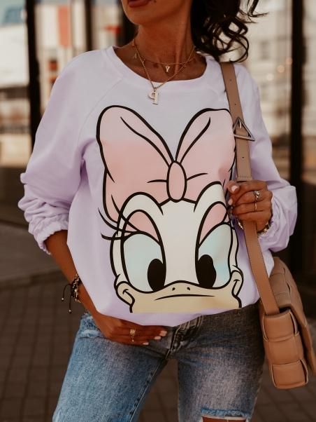 Bluza dresowa Daisy fioletowa