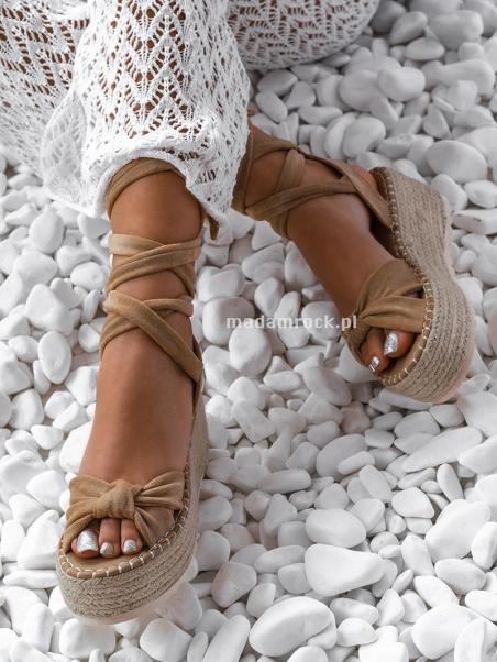 Sandały espadryle wiązane...