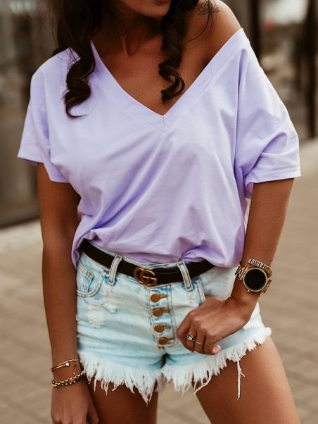 Bawełniany t-shirt oversize...