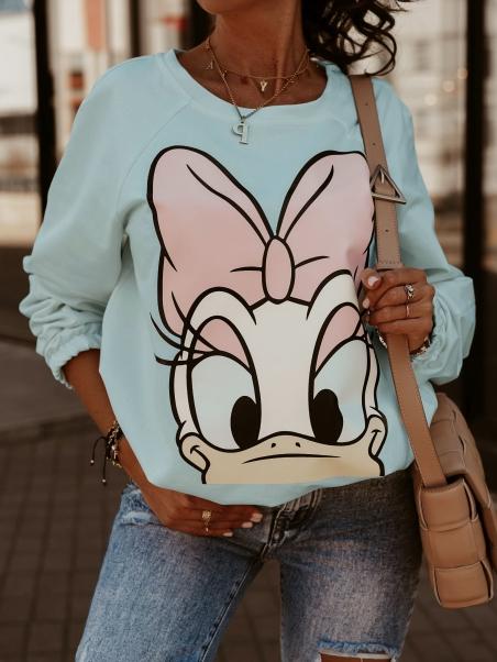 Bluza dresowa Daisy miętowa