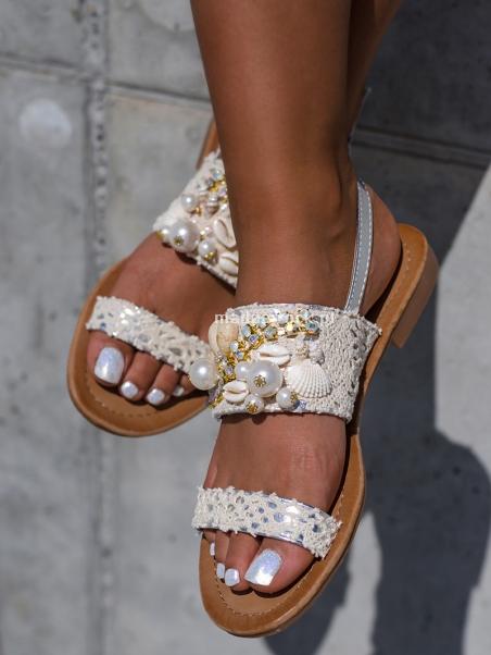 Sandały płaskie z...