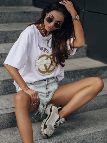 T-shirt oversize MG Apple...