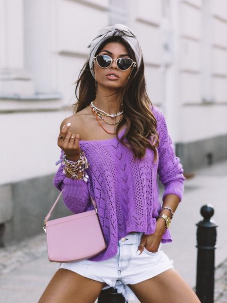 Sweter ażurowy delikatny...