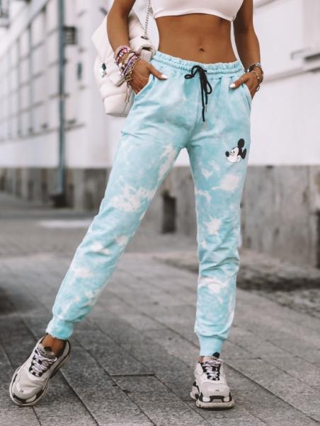 Spodnie Tie Dye Mousi błękitne