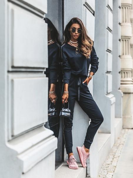 Spodnie dresowe LA Lord czarne