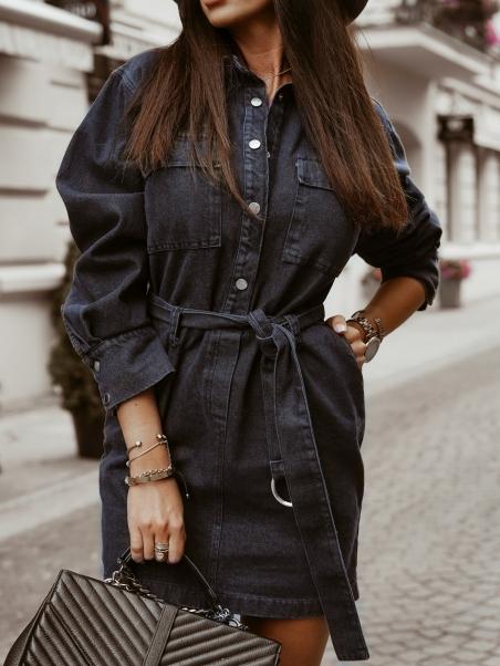 Sukienka jeansowa z paskiem...