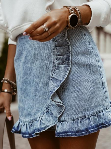 Spódniczka jeansowa z...