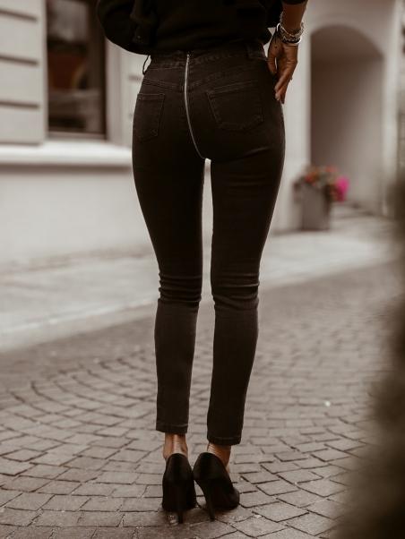 Spodnie jeansowe zip czarne