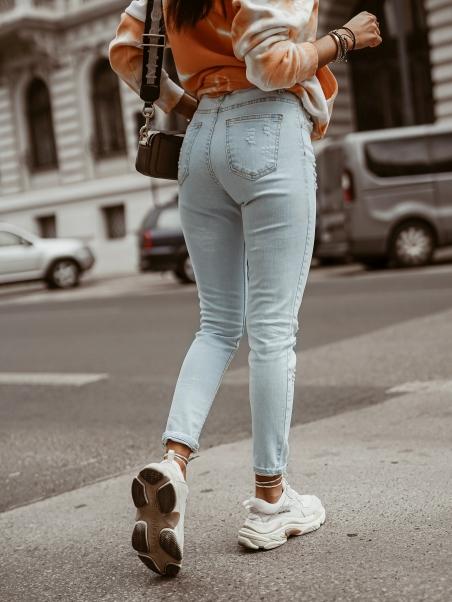 Spodnie jeansowe z...