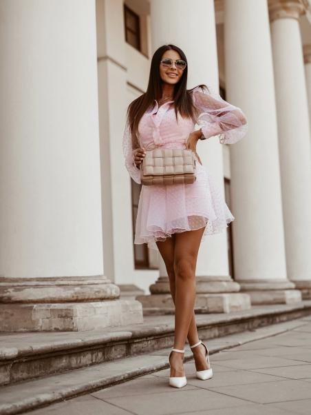 Sukienka z szerokimi...