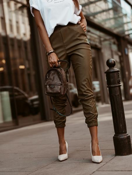 Spodnie Leather Autumn khaki