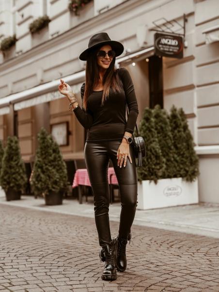 Bluzka klasyczna Plain czarna