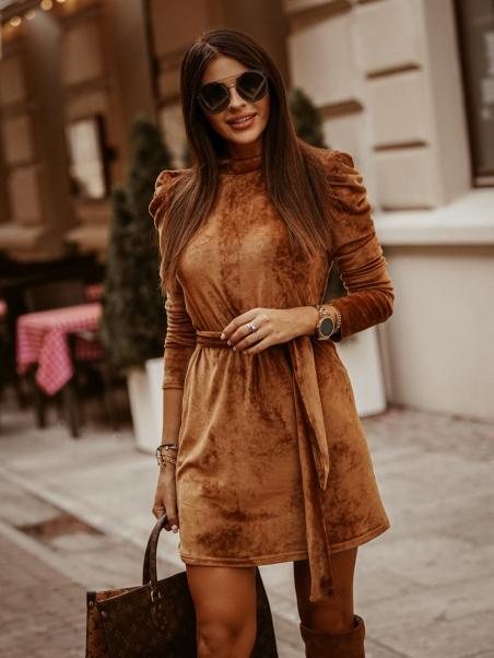 Sukienka z bufkami Sofia ruda