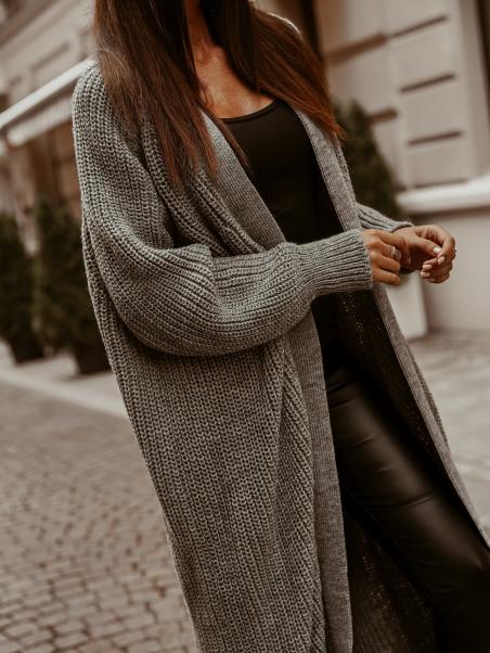 Sweter kardigan długi Long...