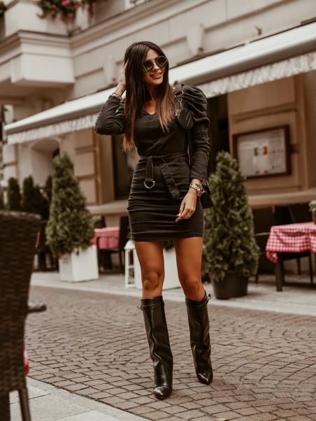 Sukienka jeansowa wiązana...