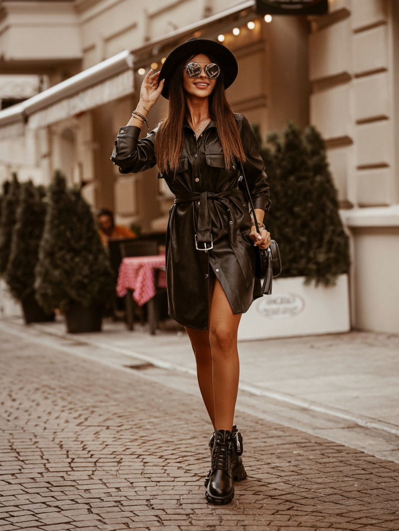 ПЛАТЬЕ Leather Dress