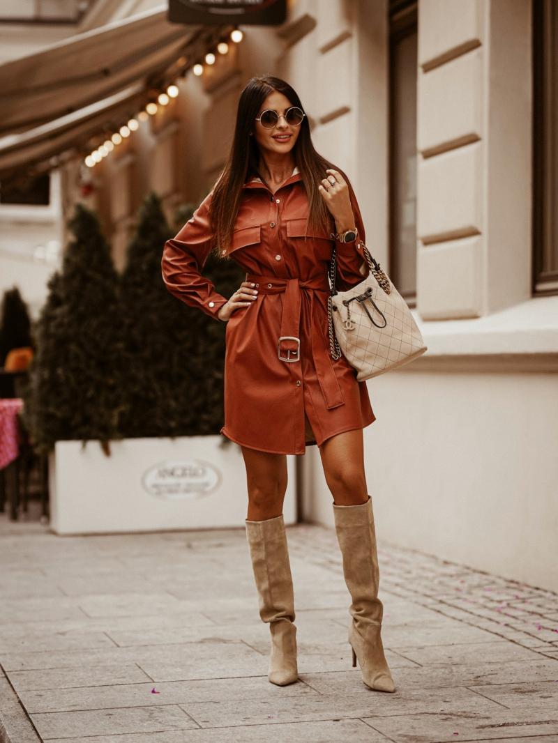 ПЛАТЬЕ Leather Dress