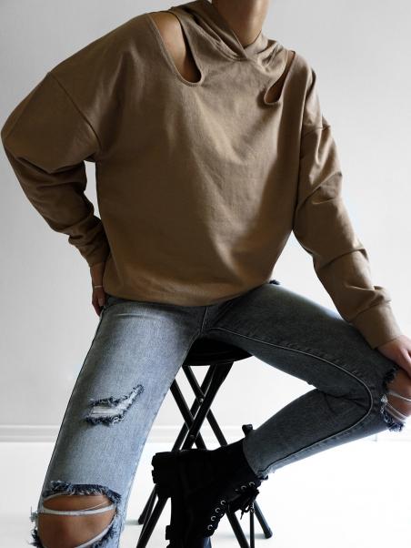 Bluza dresowa z wycięciami...
