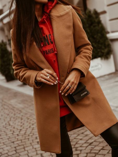Płaszcz elegancki na guziki...