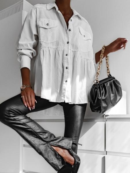 Koszula sztruksowa Szezz biała