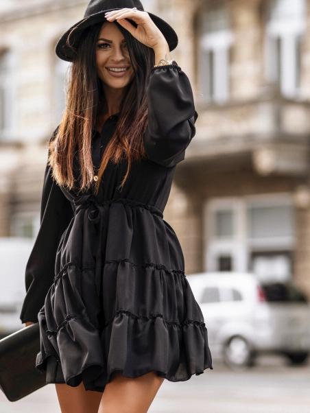 Sukienka zwiewna na guziki...