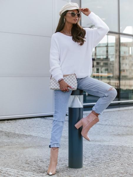 Sweterek moherowy Mika biały