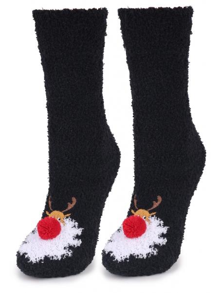 Czarne świąteczne skarpetki...