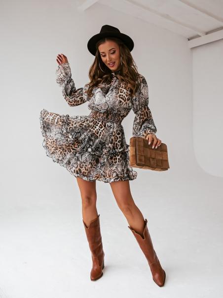 Sukienka z falbankami Talla...