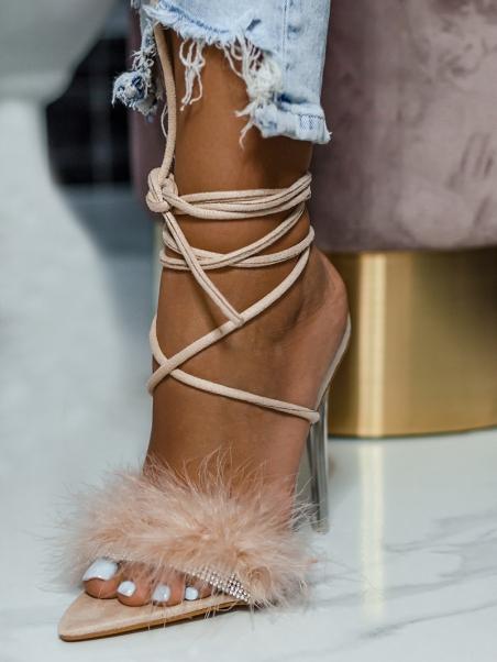 Sandały szpilki z puszkiem...