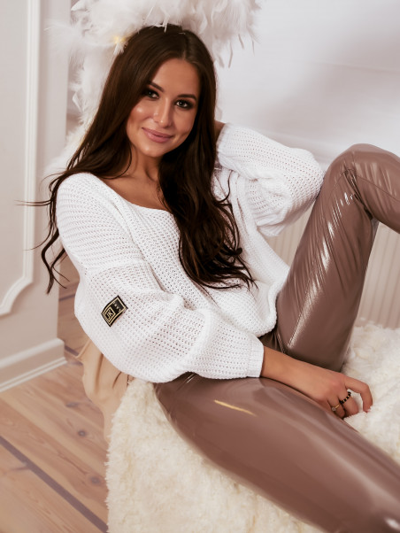 Sweter oversize delikatny...