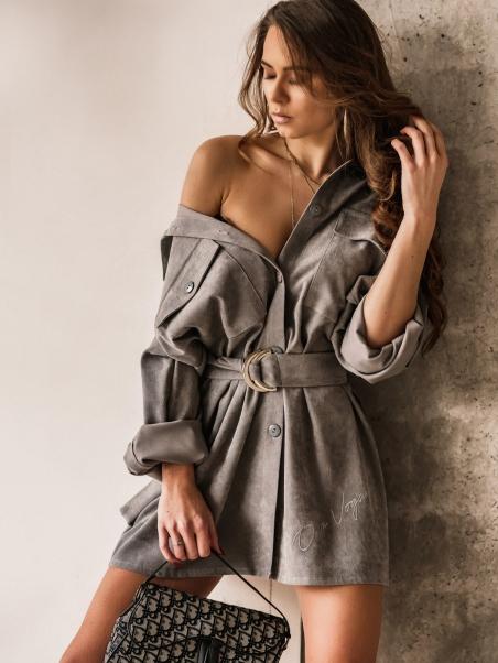 Sukienka z paskiem Casual...