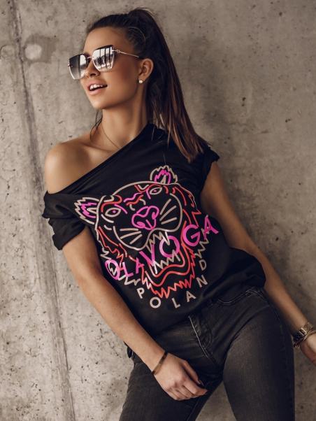 T-shirt bawełniany Tiger O...