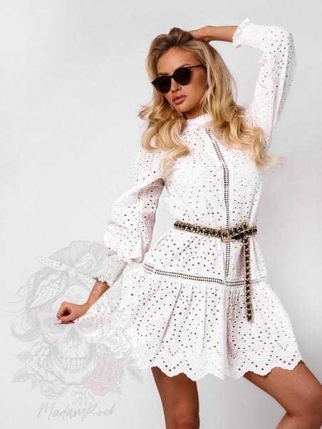 Sukienka ażurowa Palawe biała