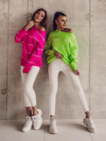 Sweter oversize OLV Print...
