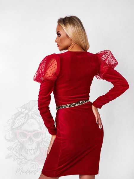 Sukienka welurowa Red Love...