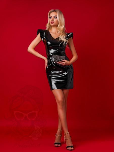 Sukienka lateksowa Xena czarna