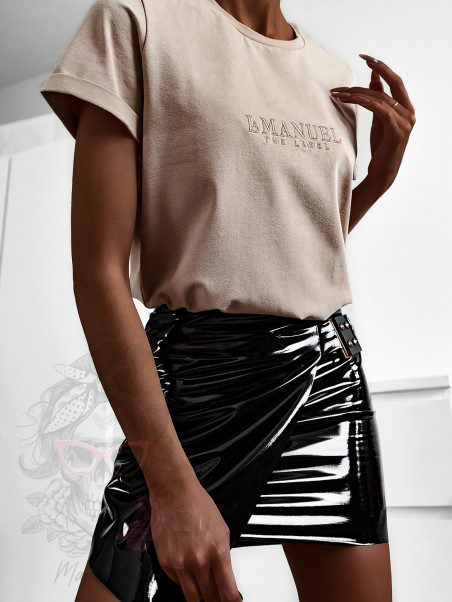 T-shirt damski LaManuel beżowy