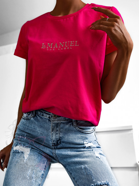 T-shirt damski LaManuel fuksja