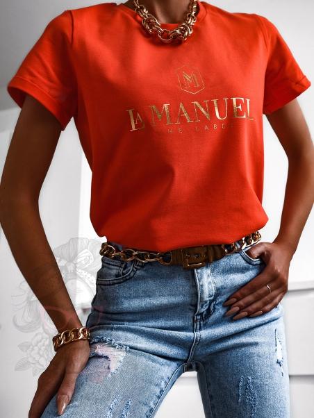 T-shirt bawełniany L.Man...
