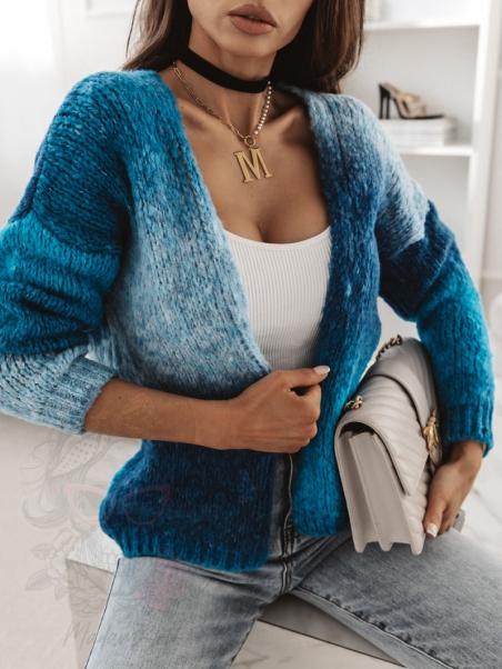Sweter kolorowy Mish niebieski
