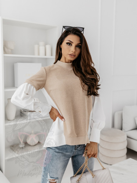 Bluza elegancka Elinea beżowa