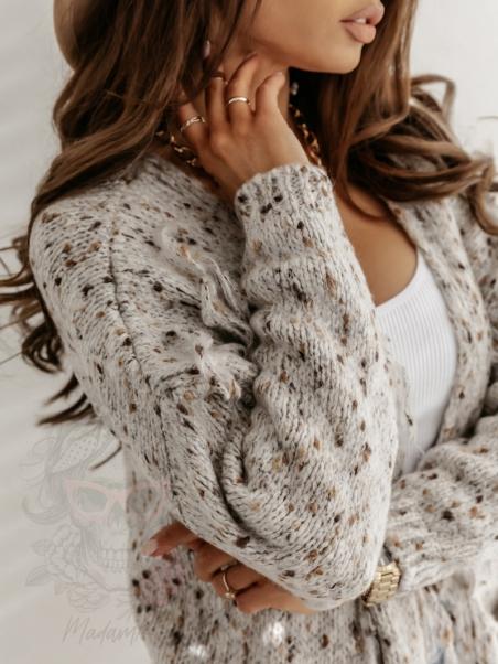 Sweter długi nakrapiany...