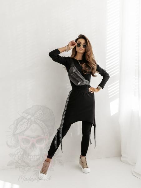 Bluzka prążek Girl Boss czarna
