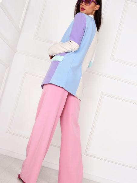 Spodnie Cotton Candy pudrowe