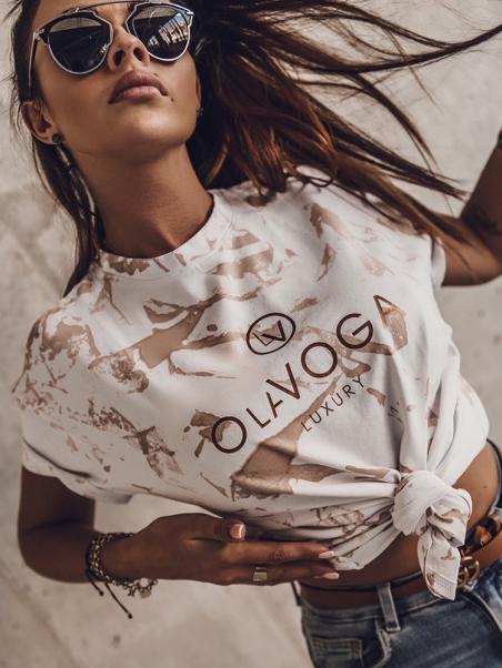 T-shirt bawełniany Olv...