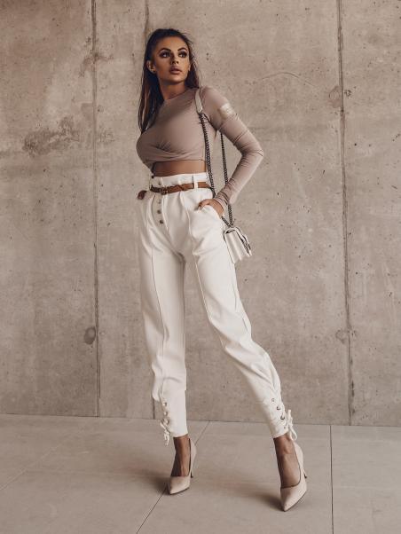 Bluzka krótka My Style beżowa