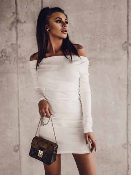 Sukienka prążkowana logo...