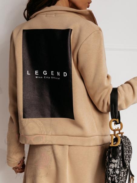 Bluza dresowa Legend beżowa