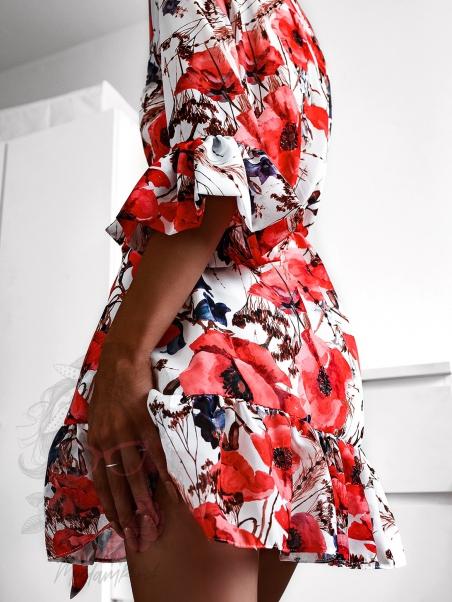 Sukienka letnia Japan biała