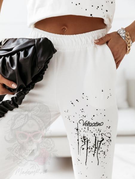 Spodnie bawełniane Tinno białe